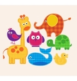 colorful animals set for kids vector image