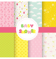 Cute Baby Background Seamless Pattern vector image vector image