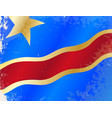 democratic republic of the congo flag grunge vector image