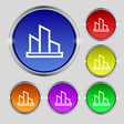 Diagram icon sign Round symbol on bright colourful vector image vector image