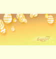 easter yellow banner monochrome color theme vector image