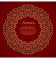 Elegant invitation card with round gold ornament vector image vector image