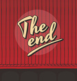 end live stage red curtain vector image vector image