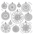 ethnic christmas baubles set vector image vector image