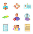 expert icons set cartoon style vector image vector image