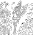 fairy tail coloring page vector image vector image