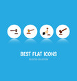flat icon hammer set of legal justice law and vector image vector image