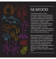 Fresh seafood background vector image vector image
