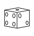 gambling dice isolated vector image