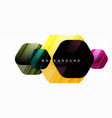 glossy color hexagons modern composition vector image vector image