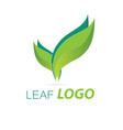 green leaf logo template healthy fresh leaf vector image