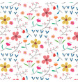 hand drawn floral pattern background vector image vector image