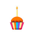 happy birthday puncake with candle vector image