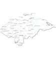 Honduras Black White Map vector image