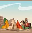 indian village at landscape vector image