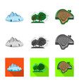 isolated object of natural and disaster logo vector image vector image