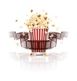 jumping popcorn vector image vector image