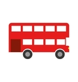 london bus isolated icon vector image