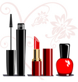 makeup set vector image vector image