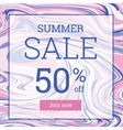 Marble texture Summer sale up to 50 per cent off vector image