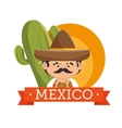 mexican man hat design vector image vector image