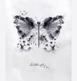 monotype butterfly black vector image
