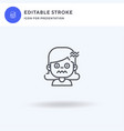 nervous icon filled flat sign solid vector image vector image