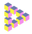 optical triangle with cubes vector image vector image