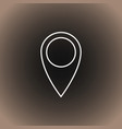 outline location icon on blackdark gray and beige vector image