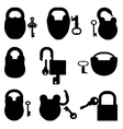 padlock with keys vector image vector image