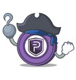 pirate pivx coin character cartoon vector image