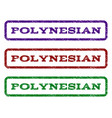 polynesian watermark stamp vector image vector image