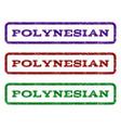 Polynesian watermark stamp vector image