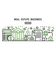 real estate business banner outline style