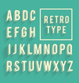 Retro poster alphabet vector image vector image