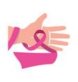 ribbon cancer symbol vector image vector image