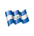 salvador flag on a white vector image vector image