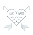 Save water symbol vector image vector image