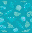 sea shells seamless pattern vector image vector image