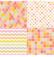 seamless soft multicolor pattern vector image vector image