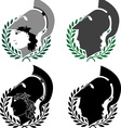 set of ancient winners vector image