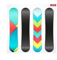 Snowboard sample symbols for design vector image