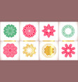 snowflake symbols set snowflakes isolate vector image vector image