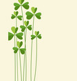 st patricks day banner with tall shamrocks vector image vector image