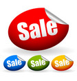 stickers with word sale vector image