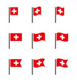switzerland symbols set national flag icons vector image vector image