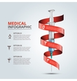 syringe with red ribbon for infographics vector image