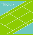 tennis court background vector image vector image
