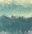 turguoise blue sea polygonal triangular pattern vector image vector image