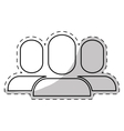 users pictogram community icon image vector image vector image